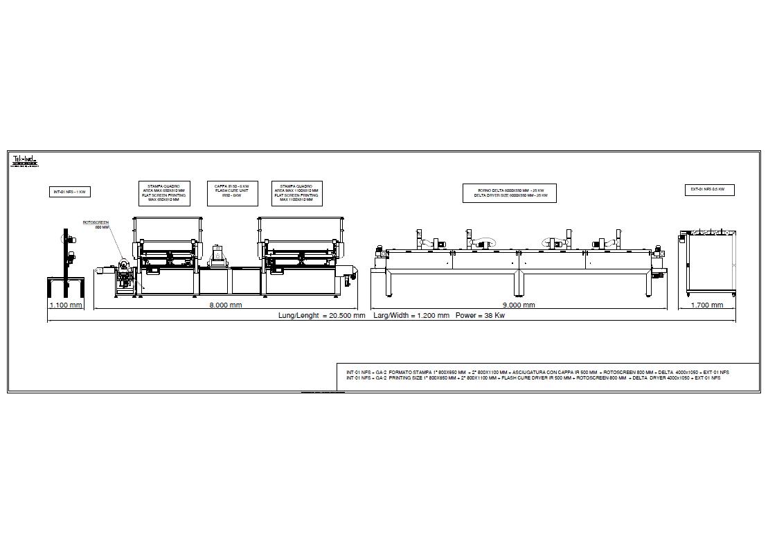 GA-2(800X650+800X1100) +ROTOSCREEN800 +DELTA8000